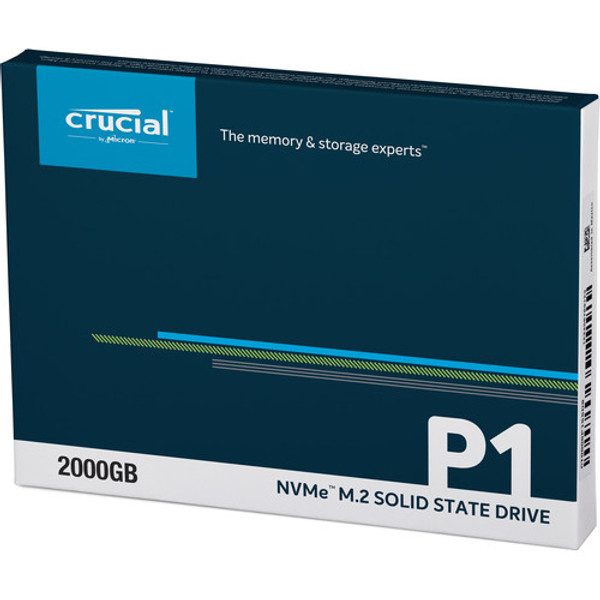 Crucial P1 CT2000P1SSD8 2 TB Solid State Drive - M.2 2280 Internal - PCI Express NVMe (PCI Express NVMe 3.0 x4)