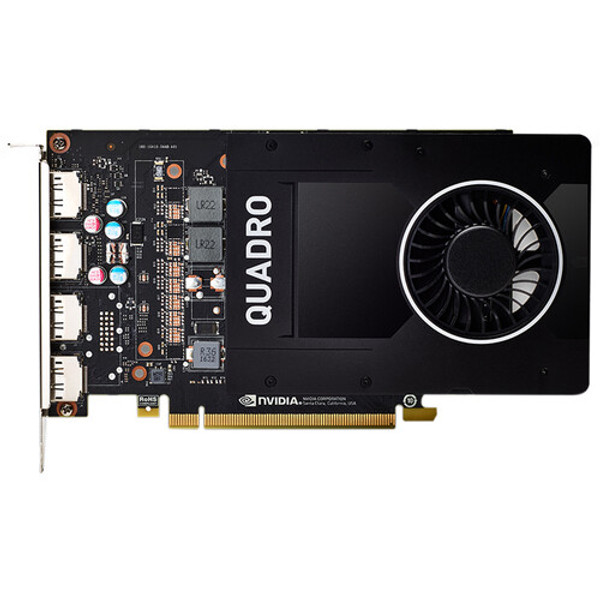 PNY NVIDIA Quadro P2200 VCQP2200-SB 5 GB GDDR5X Graphic Card, is the perfect balance of performance, compelling features. It features a Pascal GPU with 1280 CUDA cores, large 5 GB GDDR5X on-board memory, and the power to drive up to four 5K (5120x2880 @ 60Hz) displays natively.