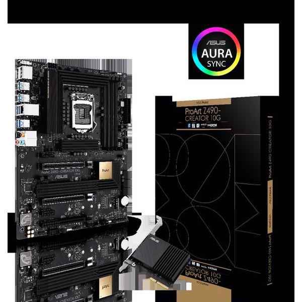 Asus ProArt Z490-CREATOR 10G Intel Chipset Socket LGA-1200 Intel Optane Memory Ready ATX Motherboard