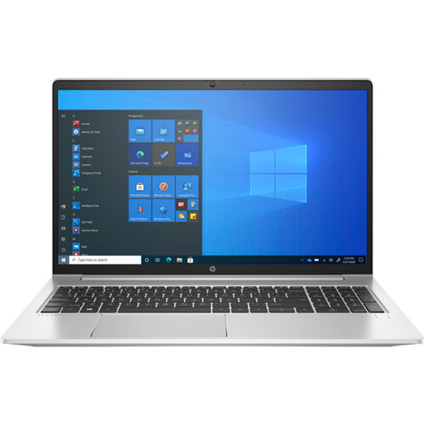 """HP ProBook 450 G8 28K93UT#ABA 15.6"""" Laptop (2.40 GHz Intel Core-i5-1135G7 (11th Gen) Quad-core (4 Core), 8 GB DDR4 SDRAM, 256 GB SSD, Windows 10 Pro). The compact, light, slim chassis with aluminum components is easy to carry from place to place. An optional high-brightness display provides an over 87-percent screen-to-body ratio and a new keyboard delivers a quiet and responsive experience."""