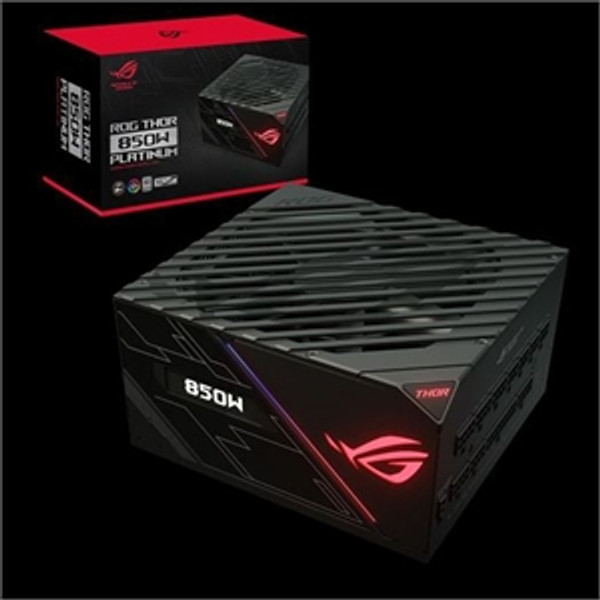 Asus ROG Thor ROG-THOR-850P Power Supply. Under the hood, high-quality capacitors, a 135mm Wing-blade fan, and large heatsinks allow the ROG Thor 850W to achieve LAMBDA A+ and 80 PLUS®Platinum certifications, making it ideal for PC enthusiasts who demand performance perfection.