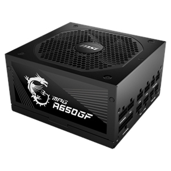 MSI MPG A650GF 80 Plus Gold Modular Power Supply. The MPG gaming power supply can support the NVIDIA GeForce RTX™ 30 Series GPUs. the MPG power supply's IO supports can support different and versatile ways of connection according to the power connector design of different graphics cards.