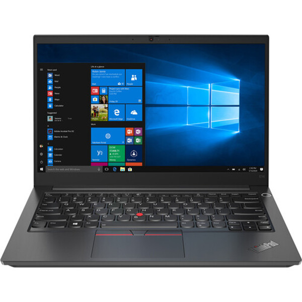 """Lenovo ThinkPad E14 Gen 2 20TA004MUS 14"""" Touchscreen Laptop (2.80 GHz Intel Core i7-1165G7 Quad-core (4 Core), 16 GB DDR4 SDRAM, 512 GB SSD, Windows 10 Pro). Give your small business a unique style with the compelling facade and features of these business laptops. They're built for security and productivity, with a look that makes business personal again."""