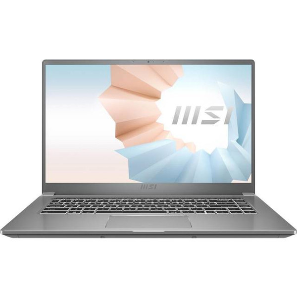 "MSI Modern 15-A262 15.6"" Ultrabook Laptop (1.20 GHz Intel Core i7-1165G7 (11th Gen), 16 GB DDR4 SDRAM, Iris Xe, 512 GB SSD, Windows 10 Home)"