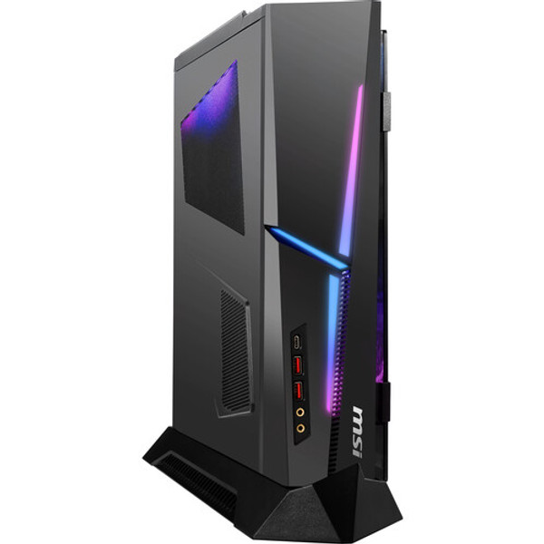 Designed for gamers, the MSI MEG Trident X Gaming Desktop Computer provides the performance needed without taking up too much space. The compact design features a 3.8 GHz Intel Core i7 8-Core 10th Gen processor and 32GB of DDR4 RAM, providing the performance you need. The 1TB M.2 NVMe PCIe SSD allows for fast boot and load times. The dedicated NVIDIA GeForce RTX 3070 graphics card with 8GB of GDDR6 VRAM can handle most games at 1440p.