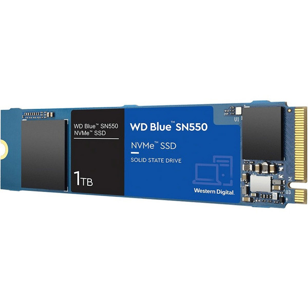 WD Blue SN550 WDS100T2B0C 1 TB Solid State Drive - M.2 2280 Internal - PCI Express NVMe (PCI Express NVMe 3.0 x4)