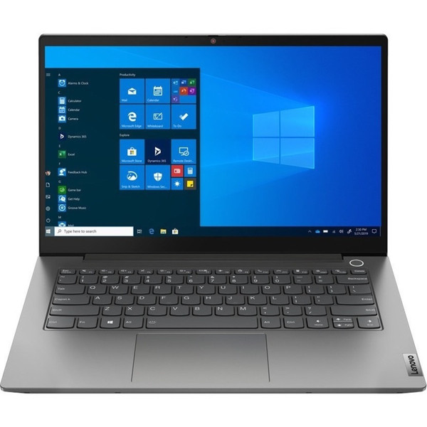 """Lenovo ThinkBook 14 G2 ITL 20VD0034US 14"""" Touchscreen Laptop (2.80 GHz Intel Core i7-1165G7 Quad-core (4 Core), 16 GB DDR4 SDRAM, 512 GB SSD, Windows 10 Pro) These laptops make it easy to do business with style. From options that keep you up and running without pause, to security that works behind the scenes. And that's not all-ThinkBook laptops boast awesome entertainment features. And they're eye catching too."""