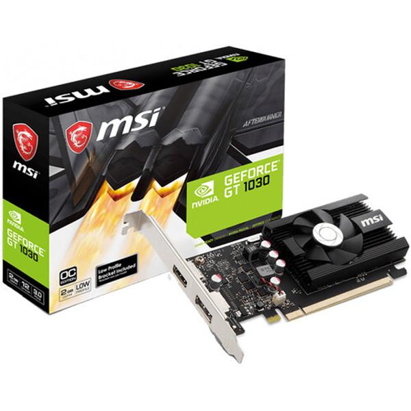 MSI NVIDIA GeForce GT 1030 2GD4 LP OC 2GB DDR4 HDMI/DisplayPort Low Profile PCI-Express Video Card