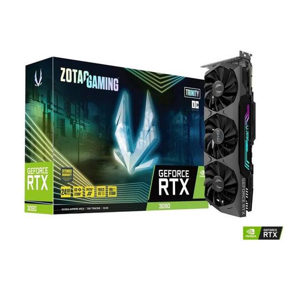 ZOTAC GAMING NVIDIA GeForce RTX 3090 Trinity OC 24GB GDDR6X HDMI/3DisplayPort PCI-Express 4.0 Video Card