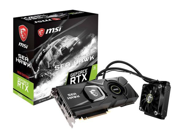 MSI GeForce RTX 2080 SEA HAWK X GeForce RTX 2080 G2080SHX Graphic Card - 1.52 GHz Core - 1.86 GHz Boost Clock - 8 GB GDDR6
