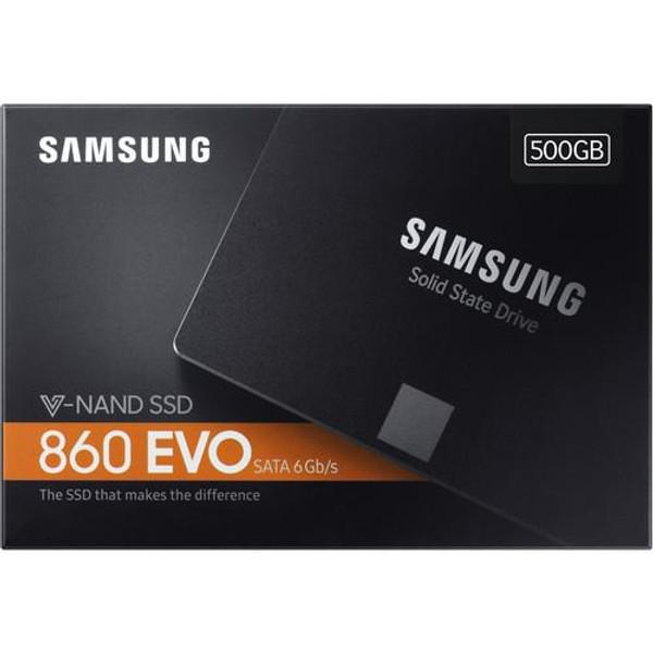 """Samsung 860 EVO MZ-76E500E 500 GB Solid State Drive - SATA - 2.5"""" Drive - Internal"""