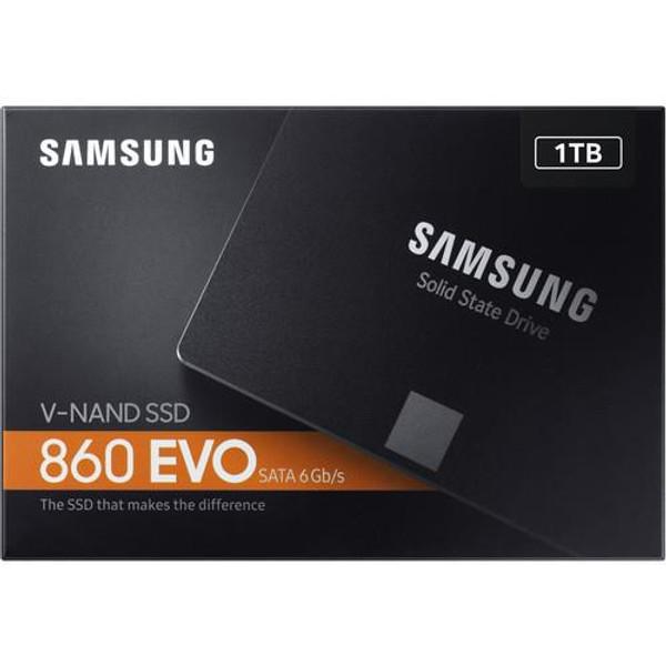 """Samsung 860 EVO MZ-76E1T0E 1 TB Solid State Drive - SATA - 2.5"""" Drive - Internal"""