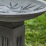 Sagano bird bath detail