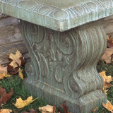 Traditional Curved Garden Bench detail