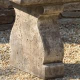 Provencal garden bench detail