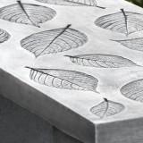 Hydrangea Leaf garden bench detail