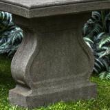 Arles Curved garden bench detail
