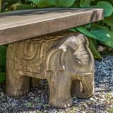 Elephant Garden Bench detail