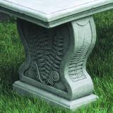 Woodland Ferns straight garden bench detail