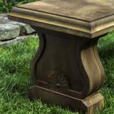 Palladio concrete garden bench detail