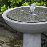 Cirrus bird bath fountain top detail