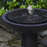 Equinox bird bath fountain top detail