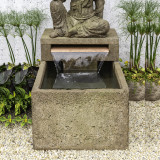 Antique Quan Yin Fountain, basin detail