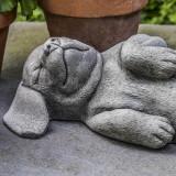 Belly Rubs dog garden statue - detail