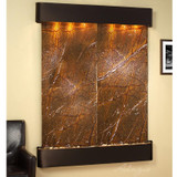 Blackened Copper Trim - Rounded Corners - Rainforest Brown Marble