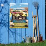 Fresh Flowers Outdoor Wall Art