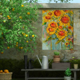 Hearts And Flowers Outdoor Wall Art