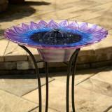 Bell Flower Solar Bird Bath