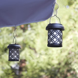 Quatrefoil Umbrella Hanging Solar Lantern 2 pack