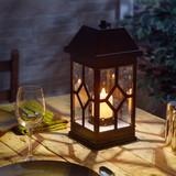 San Felipe II LED Candle Lantern - Bronze