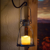 Monaco LED Candle Lantern (Clear)