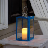 "Nemo 11"" LED Candle Lantern (Blue)"