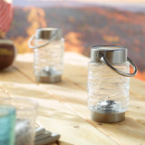 Wave Solar Lantern 2 pack - Clear
