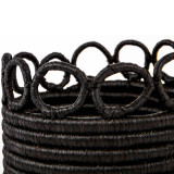 """Small Black Hooped Planter 5"""""""