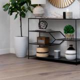 "Striped Black & Natural Storage basket 10"""