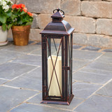 "Siena 16"" LED Candle Lantern (Antique Bronze)"