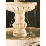 Mediterranean Fountain 3-Tier with plumbed spacer