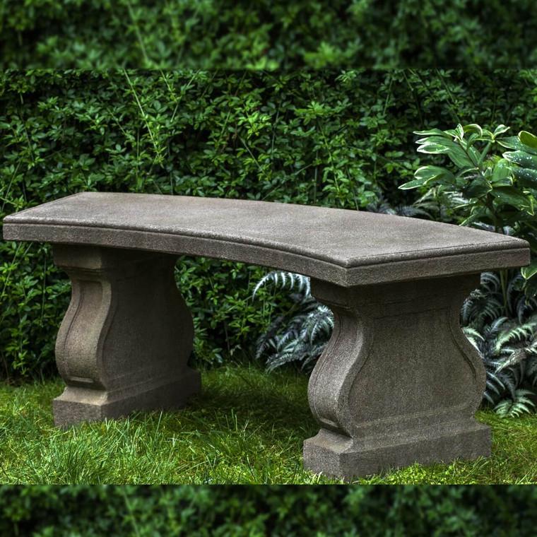 Arles Curved garden bench
