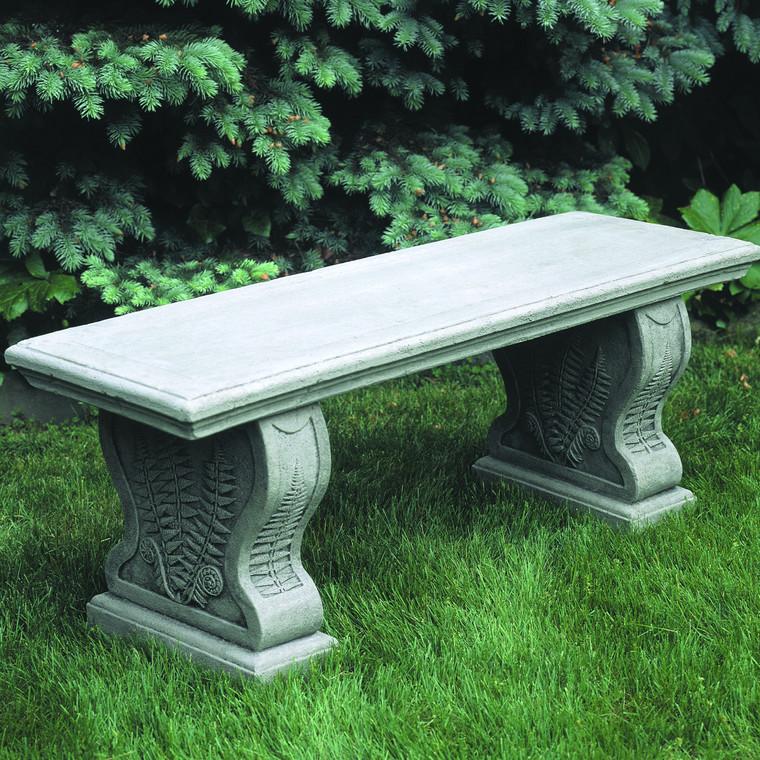 Woodland Ferns straight garden bench
