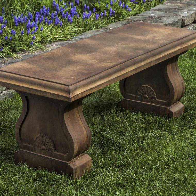 Palladio concrete garden bench