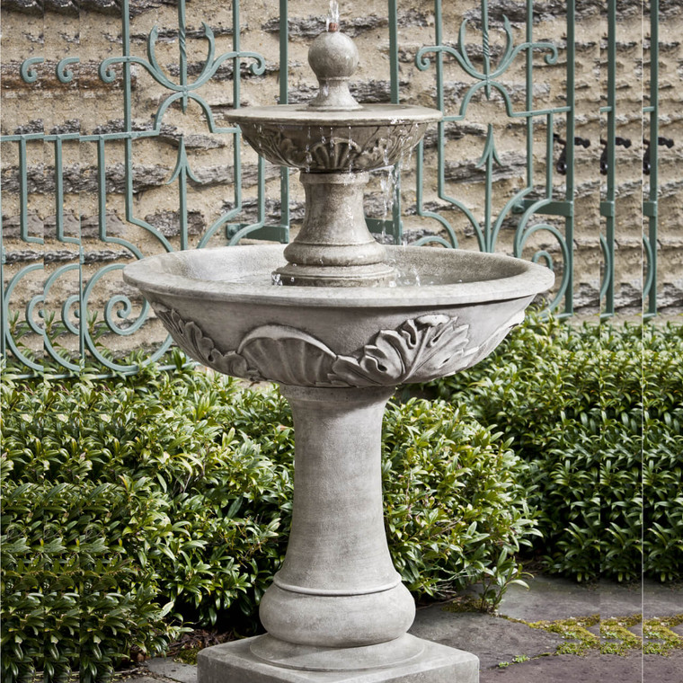 Acanthus Two-Tier Fountain