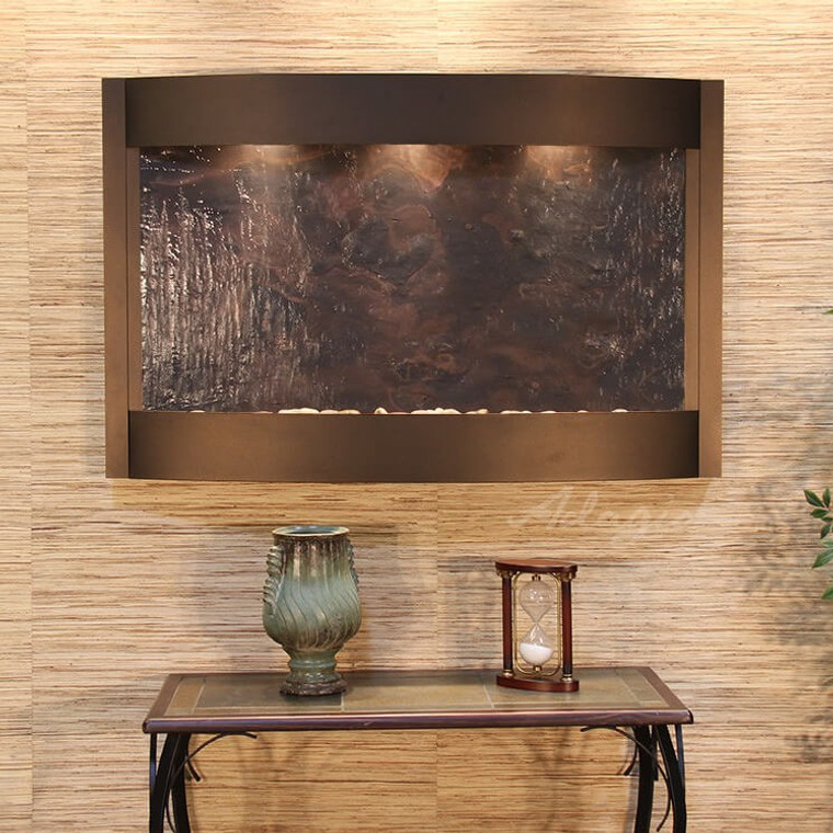 Adagio Calming Waters Wall Fountains in Antique bronze - Multi-color Featherstone