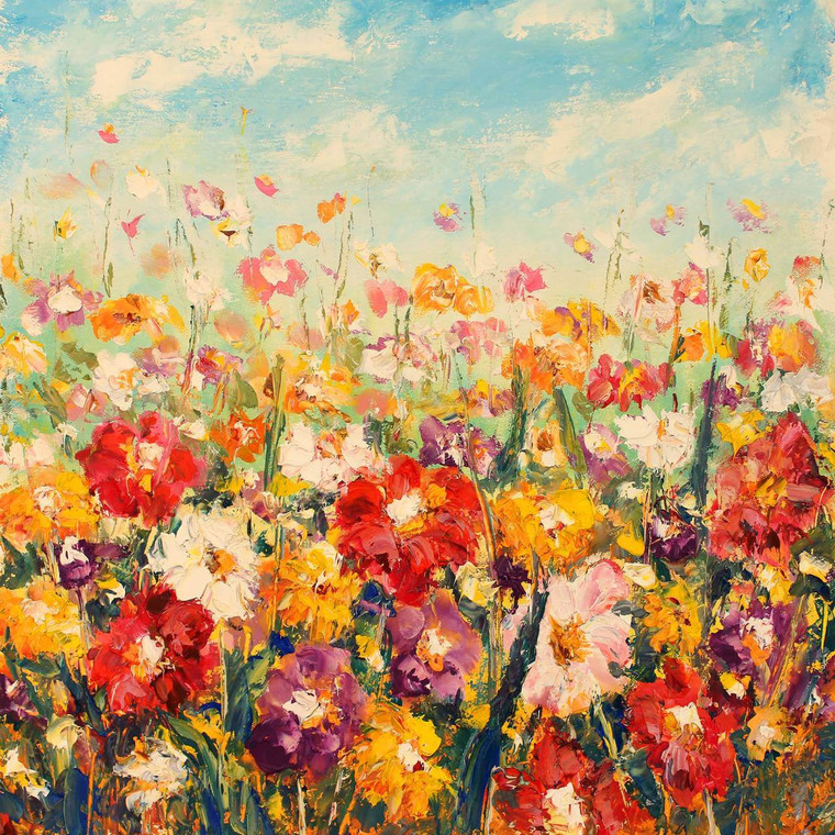 Floral Palette Outdoor Wall Art