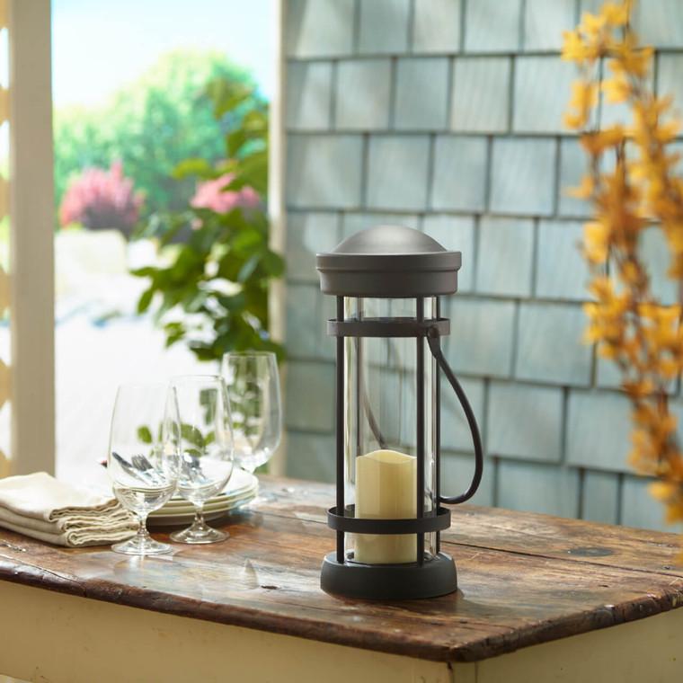 "Revere 16"" LED Candle Lantern (Black)"