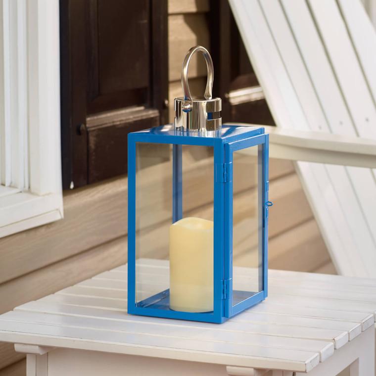 """Nemo 11"""" LED Candle Lantern (Blue)"""