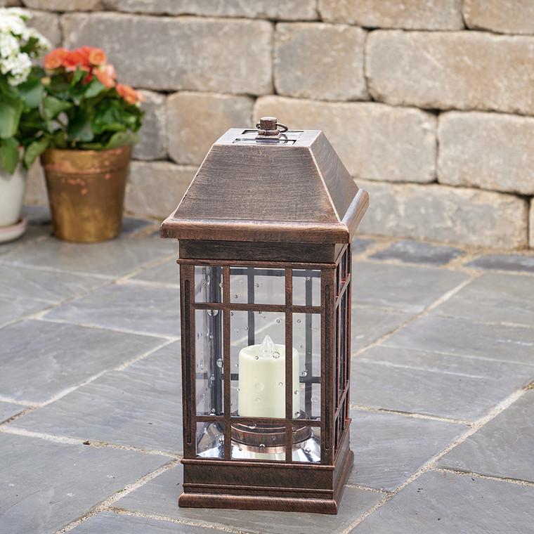 San Rafael II Solar Lantern - Antique Bronze